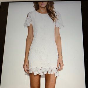 JOA Los Angeles White Lace Dress Sz: Large NWT